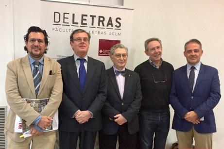 Desde la izquierda, Barchino, Collado, Viñas, Pérez Garzón y Alía