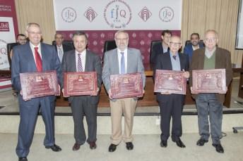 Imagen de los profesores distinguidos. Foto: Javier Torres