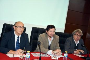 De izqd. a dcha.: Porfirio Sanz, Matías Barchino y Jorge Onrubia