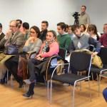 Algunos de los asistentes a la conferencia, entre quienes se encontraba la presidenta de la Audiencia Provincial de Ciudad Real