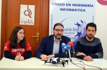 Lidia Prado, Eduardo Fernández-Medina y Ramón Hervás
