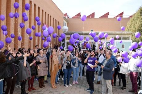 Suelta de globos en el Campus de Albacete
