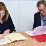 La firma del convenio tuvo lugar en la Facultad de Educación de Albacete