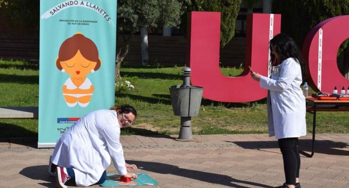 El prototipo se mostró en el Campus de Albacete durante el Día Internacional de la Enfermería