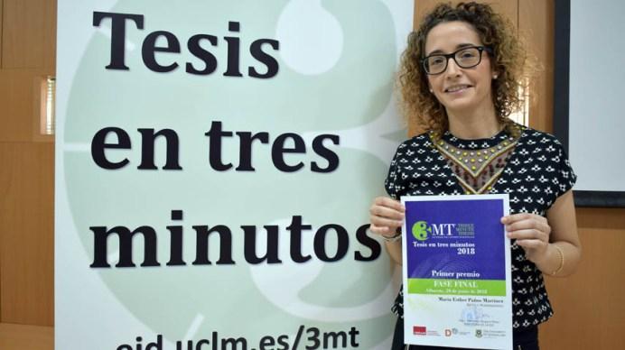 Mª Esther Paños Martínez, ganadora del certamen © Gabinete de Comunicación UCLM