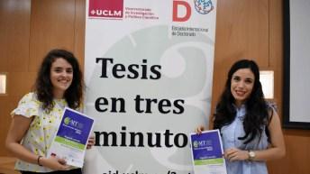 María Belén Carboneras Contreras y Sara Mateo Fernández han compartido el segundo premio. © Gabinete de Comunicación UCLM