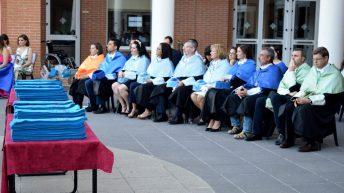 La ceremonia tuvo lugar en los exteriores del Paraninfo universitario © Gabinete de Comunicación UCLM
