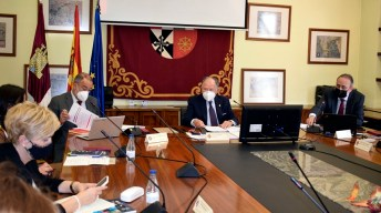 Desarrollo del pleno ordinario del Consejo Social © Gabinete de Comunicación UCLM