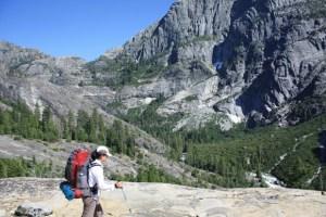 backpacker in the Sierra Nevada