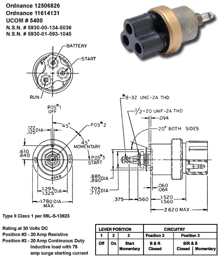 UCOM #5400 Rotary Switch (Momentary Start)