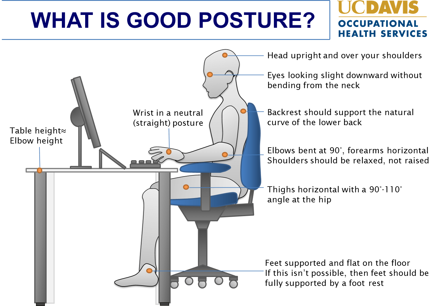 office chair posture tips adirondack style chairs ergonomics and best practices ucop