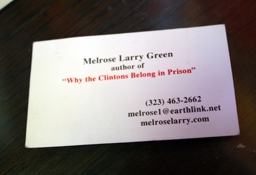Business Cards - Larry Green