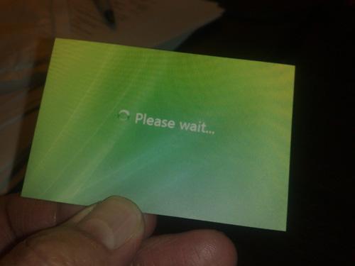 Business Cards - Please Wait