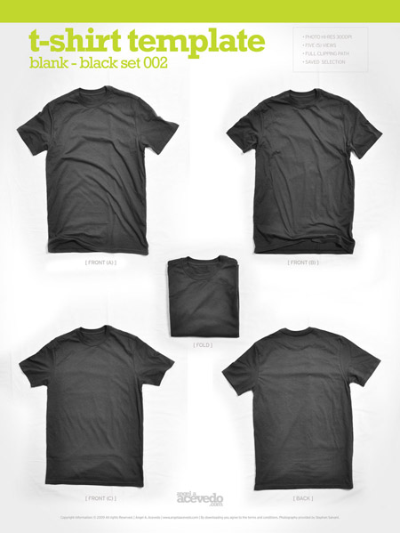 Free Blank T Shirt Template Designs