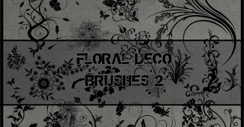 floral deco brush