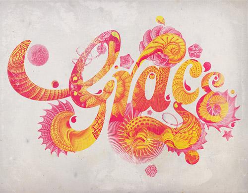 grace typography design