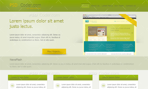 marketing web layout tutorial