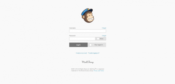 11-Login   MailChimp   email marketing made easy