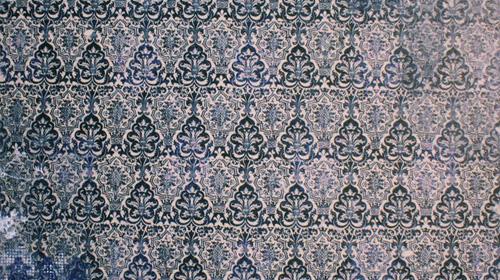 blue vintage decay