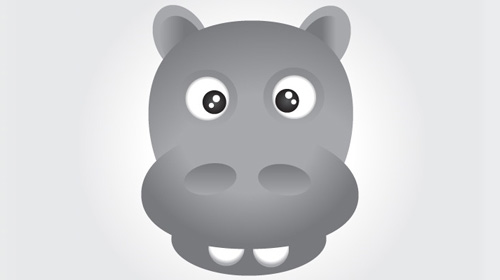 how to create face of a hippo using illustrator