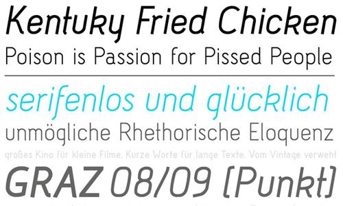 acid type font