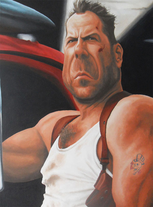 awesome bruce willis caricature