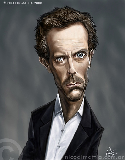 dr  house caricature