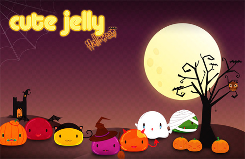 Halloween Desktop Wallpapers - Cute Jelly Halloween