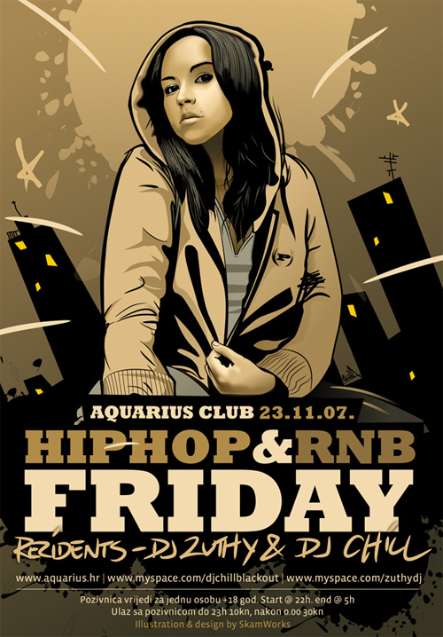 flyer design ideas aquarius hip hop and rnb flyer - Flyer Design Ideas