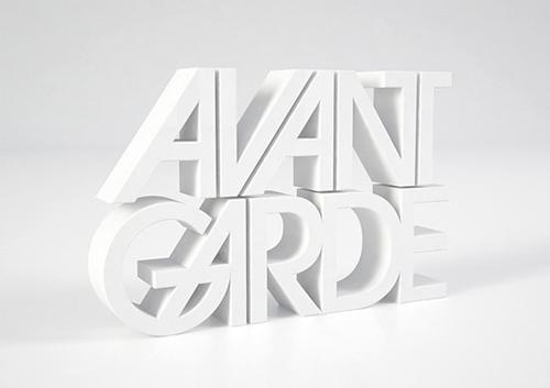 3d Typography Designs - Avant Garde