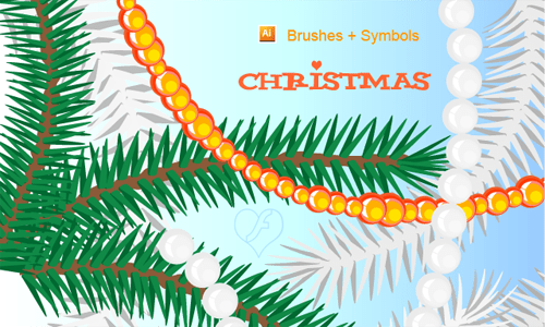 Christmas Brushes for Photoshop - Christmas Tree ai
