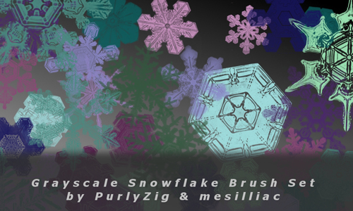 Christmas Brushes for Photoshop - Colorable Snowflake