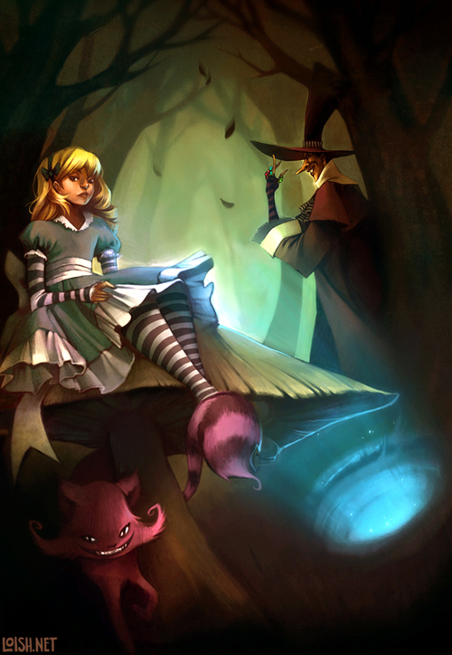 digital-painting-19-alice-and-the-mad-hatter