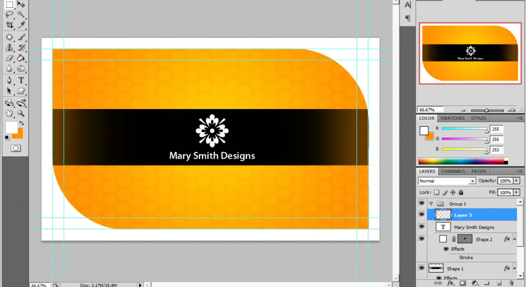 A Cool Photoshop Business Card Tutorial for Print Ready Cards ...