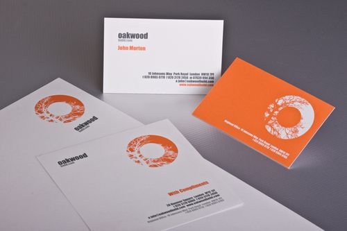 Letterhead Design Ideas squirl corporate identity by squirl Oakwood Build Logo Stationery