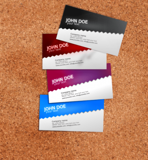 Standard Business Card Template
