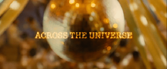 across the universe movie intertitles typography