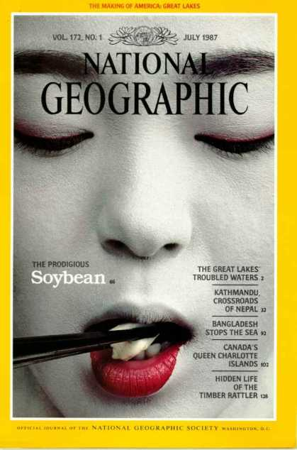 National Geographic July 1987 Issue via YouTheDesigner
