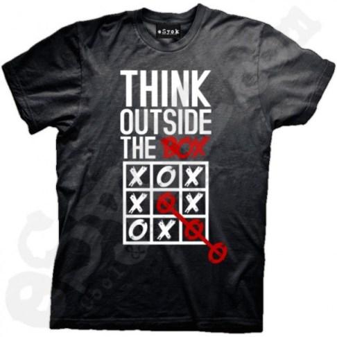 Think outside the box t shirt design via  Esyok
