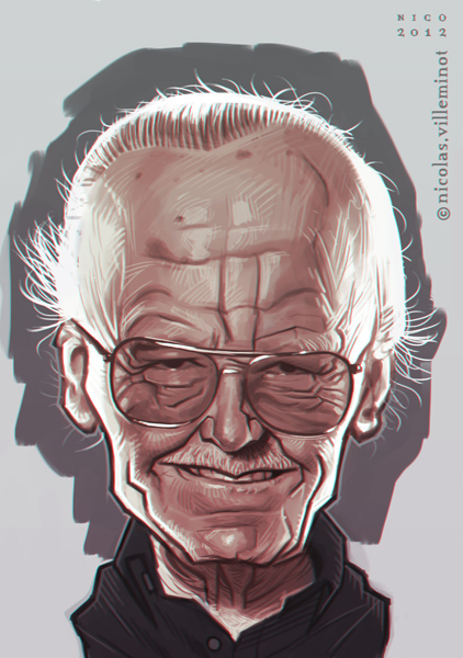 """Stan Lee :: sketch"" by ElectroNic0"