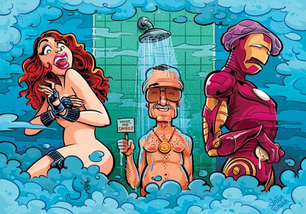"""Stan Lee MAD Magazine Illustration"" by Anton Emdin"