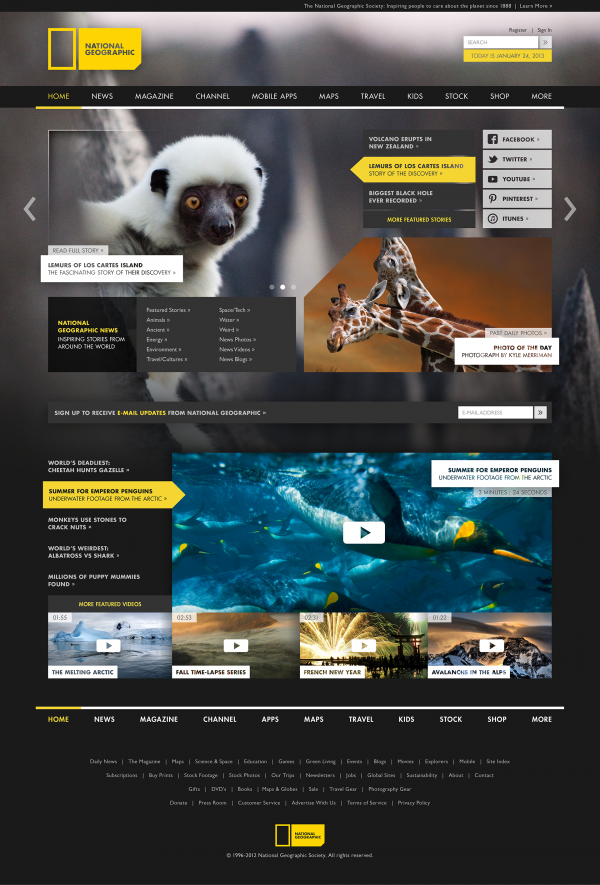 NatGeo Rebranding Project | Website