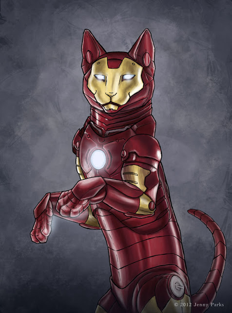 Iron Cat | Jenny Parks Illustration