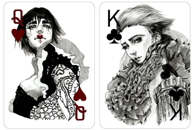 Fashion Playing Cards by Connie Lim