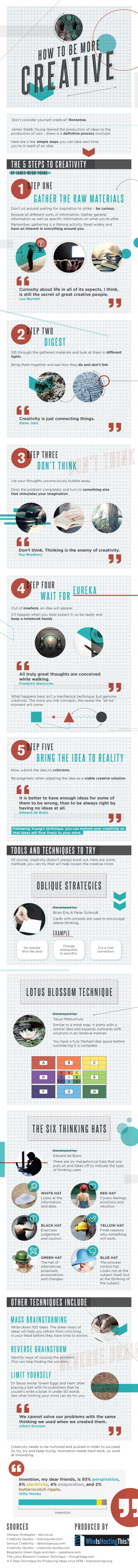 Infographic: How To Be More Creative
