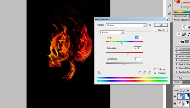 9 - hue saturation