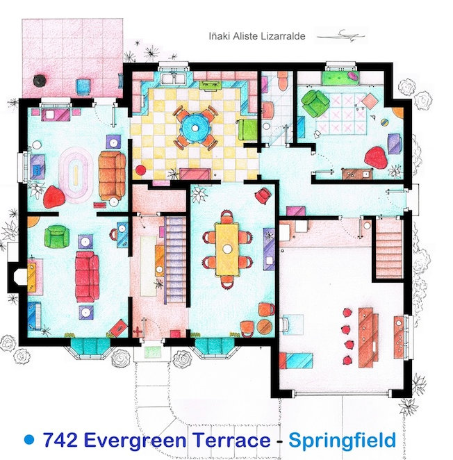 The Simpsons House Floor Plan
