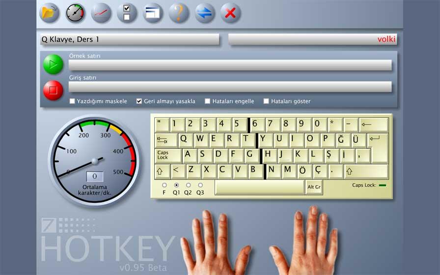 Ücretsiz Hotkey on Parmak Klavye Programı