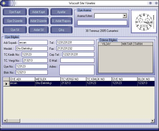 Ücretsiz Site Yönetimi 1.0 Aidat takip Programı