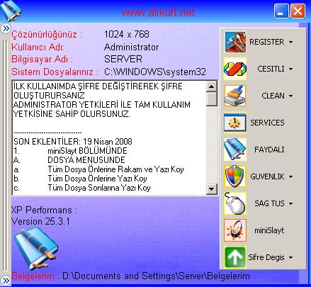 XP Performans Pc Hızlandırma Programı